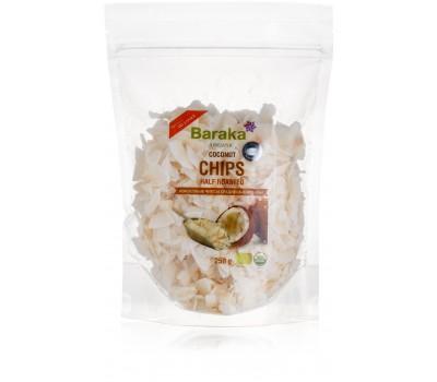 Кокосовые чипсы среднеобжаренные, 250 гр