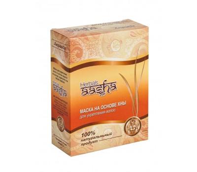 Маска на основе индийской хны для укрепления волос, Аааша Хербалс 80г