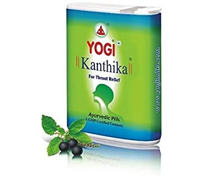 Yogi Kanthika Йоги Кантика  от ангины, боли в горле и для свежего дыхания,140 гранул