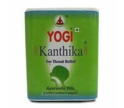 Yogi Kanthika Йоги Кантика  от ангины, боли в горле и для свежего дыхания, 70 гранул