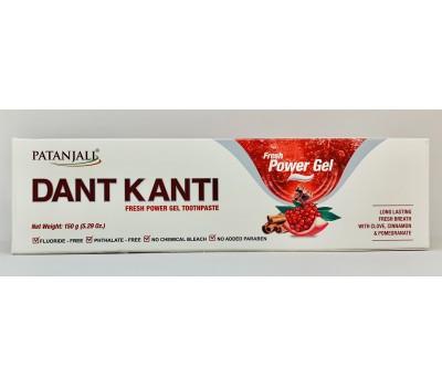 Зубная паста Дант Канти Фреш (Dant Kanti Natural Fresh Power Gel), Patanjali 150г