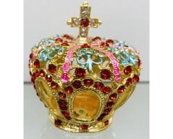 "Сувенир - Металлическая шкатулка со стразами ""Корона"""