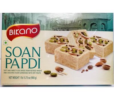 Soan Papdi Индийская воздушная сладость с миндалем и фисташками, Bikano 900г