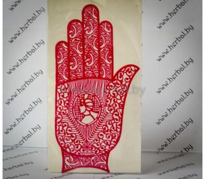 Многоразовый трафарет для мехенди (рука) Индия