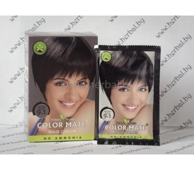 Краска для волос Color Mate Hair Color (тон 9.1, чёрный) 5*15г, 75 г