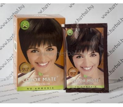 Краска для волос Color Mate Hair Color (тон 9.7, светло-коричневый) 5*15 г, 75 г