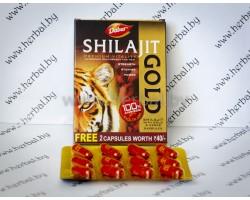 Мумие с золотом и шафраном Shilajit Gold, Dabur 10 капсул