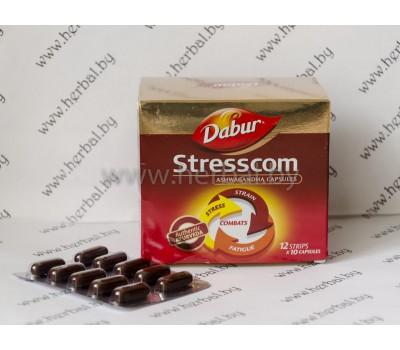 Аюрведическое средство Стресском Stresscom, Dabur 120 капс.