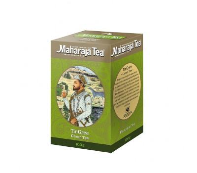 Чай зелёный листовой индийский Tin Gree Green Tea АССАМ ТИНГРИ МАХАРАДЖА, 100г