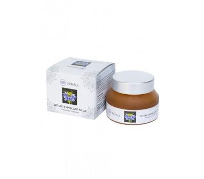 Детокс-скраб для лица с черным тмином, INDIALE 50г