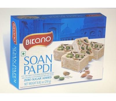 Soan Papdi нежная сладкая воздушная сладость лайт с орехами, Bikano 250г