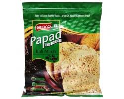 Лепешки из муки бобовых Папад с черным перцем, Bikano 200 г