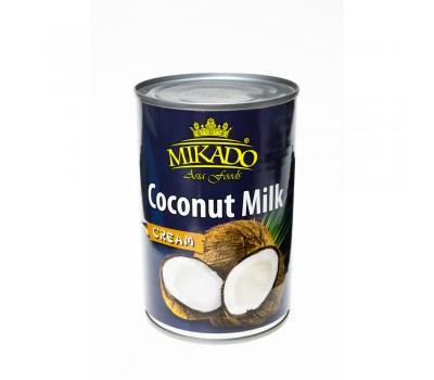 """Продукт из кокосов и воды """"Кокосовые сливки 20-22% жира"""" (Cream) ж/б Mikado 400мл"""