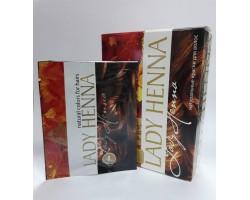 Краска для волос на основе хны каштан, Lady Henna 1 пакетик 10г