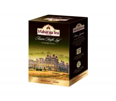 Чай черный байховый Здоровье (смесь Ассамской гранулы и листового Дарджилинг) Махараджа, 100г Maharaja