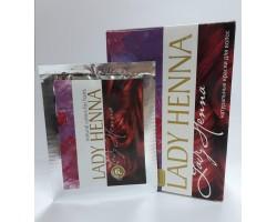 Краска для волос на основе хны Бургунд, Lady Henna 1 пакетик 10г