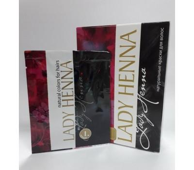 Краска для волос на основе хны Черная, Lady Henna 1 пакетик 10г