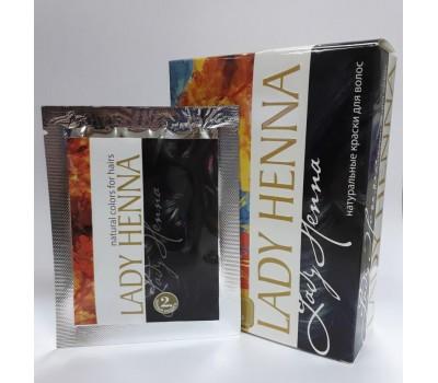 Краска для волос на основе хны Черный индиго, Lady Henna 1 пакетик 10г