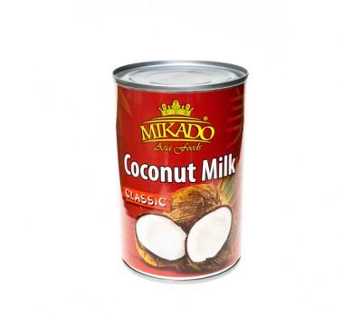 """Продукт из кокосов и воды """"Кокосовое молоко 17-19% жира"""" (Classic) ж/б Mikado 400мл"""