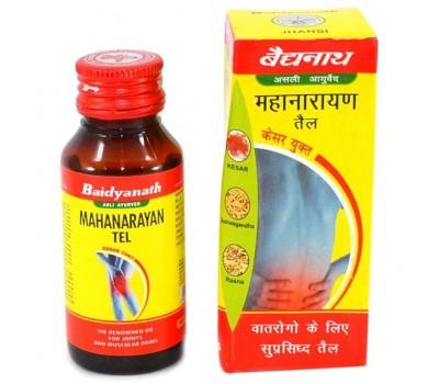 Массажное масло Маханараяна, Mahanarayan oil, Baidyanath 100 мл