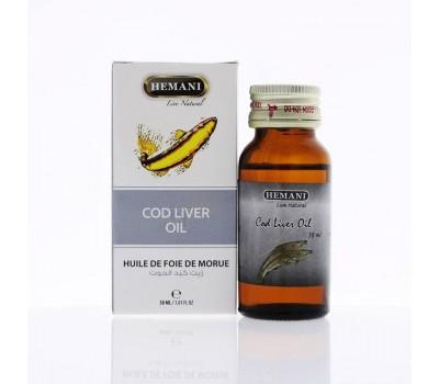 Масло печени трески, Cod liver oil 30 мл, HEMANI