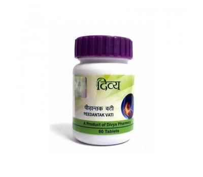 Пидантак Вати Peedantak vati, Divya Pharmacy 80 таб