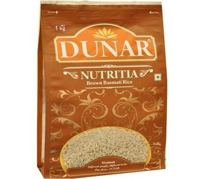 Рис Басмати Нутриция нешлифованный (бурый), 1 кг Dunar
