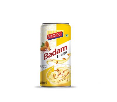 """Индийский безалкогольный напиток """"Бадам"""" с миндальным вкусом, Bikano 180мл ж/б"""