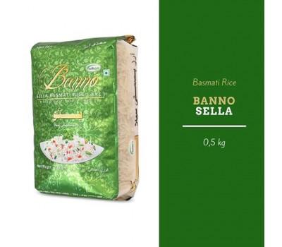 """Индийский рис Басмати """"Селла"""" Sello длиннозерный шлифованный пропаренный,  500 г Banno"""