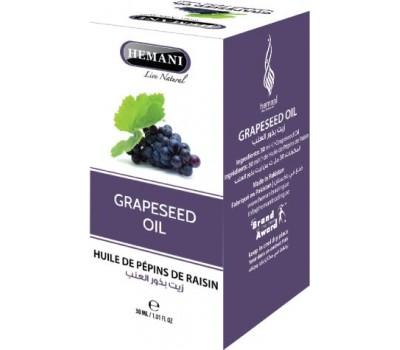 Масло Виноградных косточек, Grapeseed oil 30 мл, HEMANI