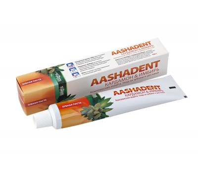Зубная паста AASHADENT Кардамон & Имбирь 100 г