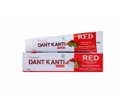 Аюрведическая зубная паста Патанджали Рэд (Dant Kanti Red ), 100 г Patanjali
