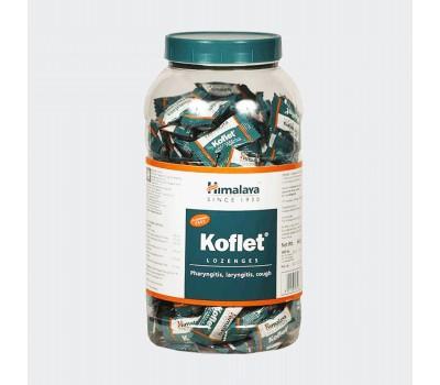Леденцы-конфетки от кашля Кофлет Хималая Koflet lozenges, Himalaya 200шт (банка)