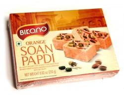 Soan Papdi нежная сладкая воздушная сладость апельсин с орехами, Bikano 250г