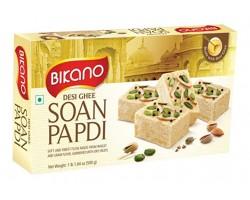 Soan Papdi ,Bikano, С топленным маслом  Гхи , Desi Ghee, 500г Индийская воздушная сладость с миндалем и фисташками