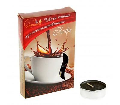 """Свечи чайные в гильзе ароматизированные """"Кофе"""", 6 шт Chameleon"""